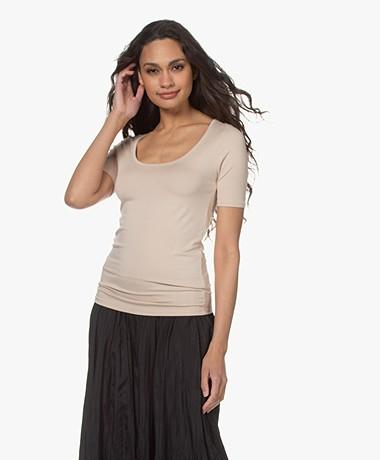 Majestic Filatures Soft Touch U-hals T-shirt - Sable