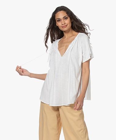 Closed Oversized Slub Jersey T-shirt - Ivory