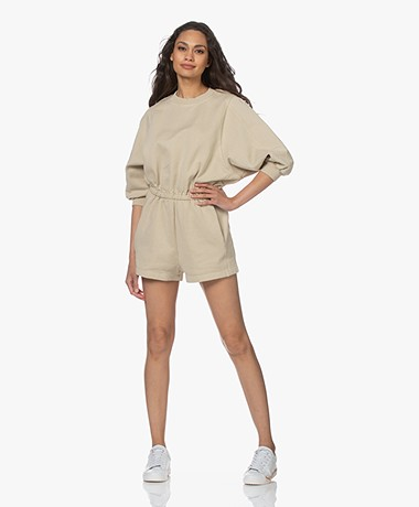 American Vintage Wititi French Terry Playsuit - Vintage Latte