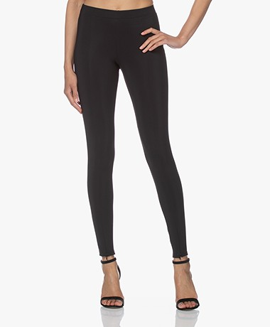 Woman by Earn Mae Tech Jersey Slim-fit Broek - Zwart