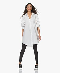 Denham Olivia Oversized Poplin Shirt Dress - White
