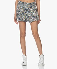 Zadig & Voltaire Sophie Crinkle Viscose Printed Shorts - Judo
