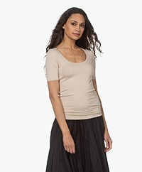 Majestic Filatures Soft Touch U-hals T-shirt - Sable