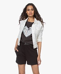 Denham Brooklyn Stretch Denim Jacket - White