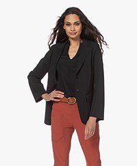 Woman by Earn Jan Jersey Blazer - Zwart