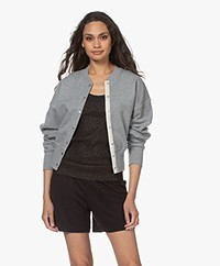 Rag & Bone Forest Popper Button Cardigan - Heather Grey