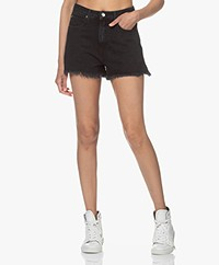 IRO Olnay High-rise Denim Short - Black Stone