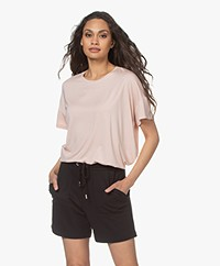 LaSalle Oversized Lyocell Jersey T-shirt - Blush