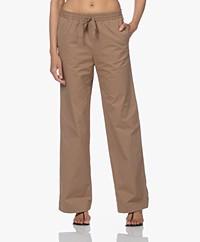 Filippa K Gillian Organic Cotton Pants - Muddy Brown