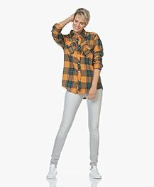 Ragdoll LA Flannel Checkered Shirt - Dark Yellow