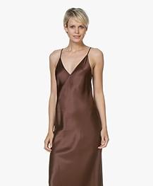Joseph Clea Silk-satin Slip Dress - Raisin
