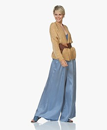 forte_forte Sash Wide Leather Waist Belt - Papaya