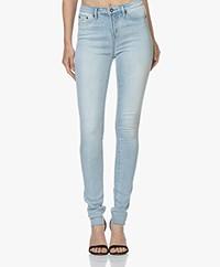 Denham Needle High Skinny Jeans - Blauw