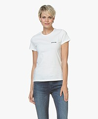 Denham Arrow Mini Logo T-shirt - Off-white/Zwart