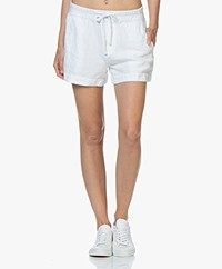 James Perse Pull On Linnen Blend Shorts - White