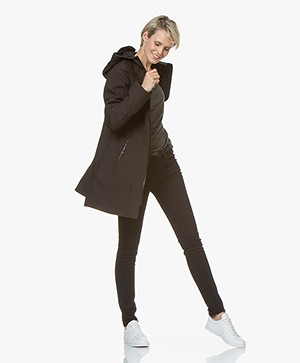 Ilse Jacobsen Softshell Raincoat Rain37 - Black