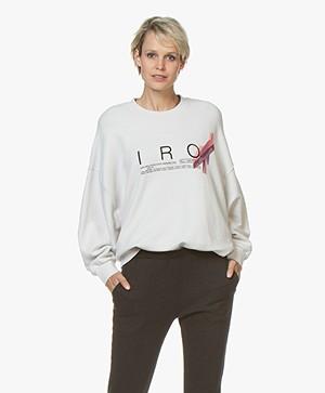 IRO Bigbow Logo Print Sweater - Cloudy White