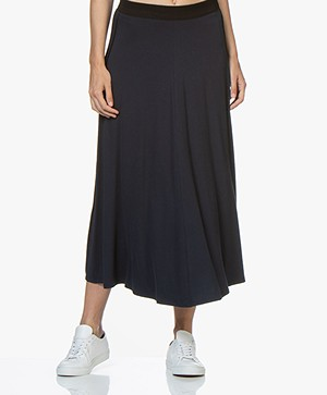 By Malene Birger Idina Jersey Circle Skirt - Navy