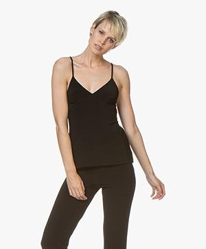 Norma Kamali Tech Jersey Slip Top - Black