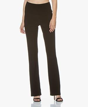 Norma Kamali Travel Jersey Boot Pant - Black