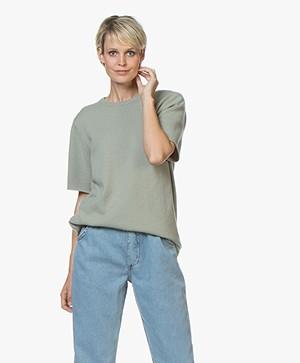 extreme cashmere N°64 Lang Gebreid T-shirt - Bean