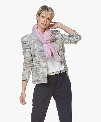 Closed Wool Scarf - Pink Blush