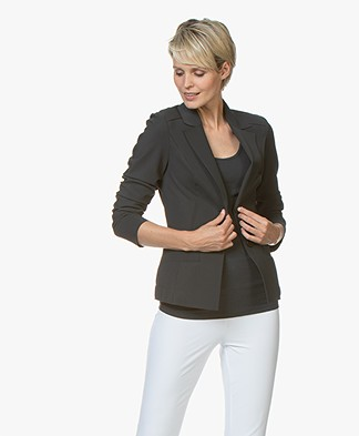 Woman By Earn Juul Bonded Tech Jersey Blazer - Dark Grey