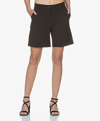 JapanTKY Choi Travel Jersey Bermuda Shorts - Black