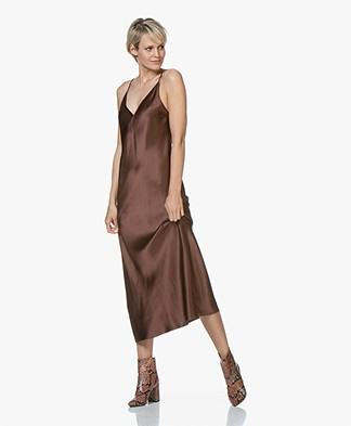 Joseph Clea Silk-satin Slip Dress - Raisin