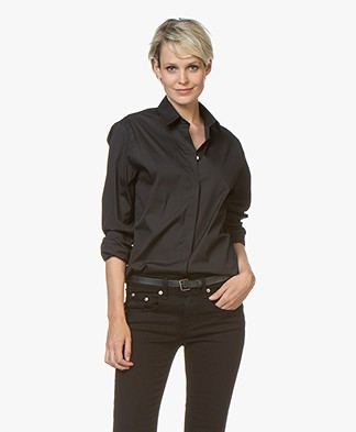 Joseph Edith Poplin Blouse - Black