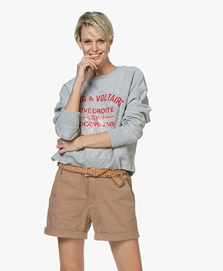 Zadig & Voltaire Hany Blason Strass Sweatshirt - Grey Heather