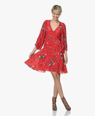 Zadig & Voltaire Remi Daisy Silk Printed Dress - Passion