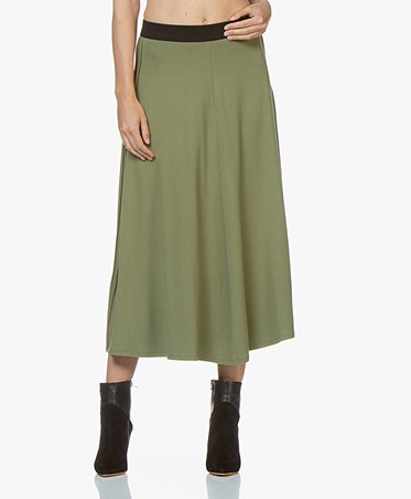 By Malene Birger Idina Jersey Circle Skirt - Olivine