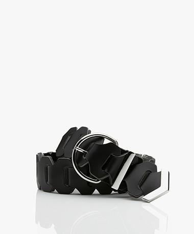 IRO Cronos Leather Belt - Black