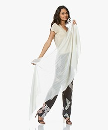 Drykorn Kabuta Cashmere Blend Scarf - Off-white