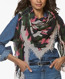 Zadig & Voltaire Delta Camouflage Scarf - Rubber