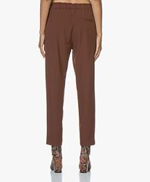 Pomandère Tapered Wool Blend Pantalon - Rusty Brown