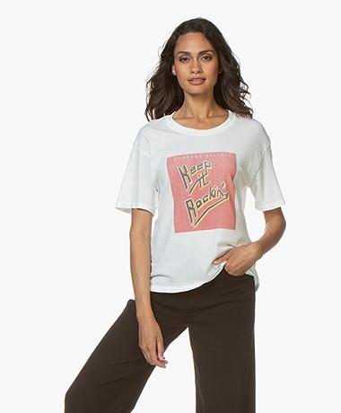 Current/Elliott The Cheat Print T-shirt - Star White