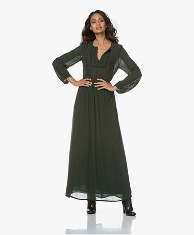 Vanessa Bruno Mahera Embroidered Maxi Dress - Mousse