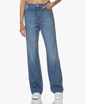 Closed Kathy Wijde Pijpen Jeans - Mid Blue