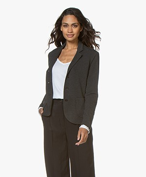 Majestic Filatures Fleece Jersey Blazer - Antraciet Mêlee