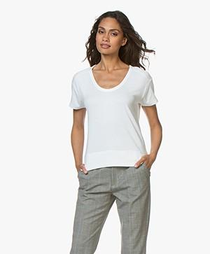 Rag & Bone Ramona Fijn Gebreid T-shirt - Wit