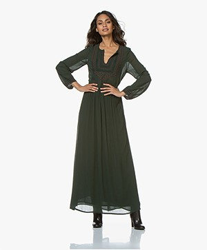 Vanessa Bruno Mahera Embroidered Maxi Dress - Mousse