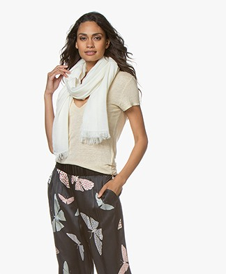 Drykorn Kabuta Cashmere Blend Scarf - Off-white
