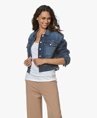 Closed Baha Cropped Denim Jack - Mid Blue
