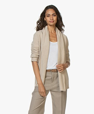 Majestic Filatures Cashmere Cardigan with Shawl Collar - Ecru Melange