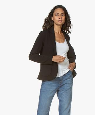 Majestic Filatures Fleece Jersey Blazer - Black
