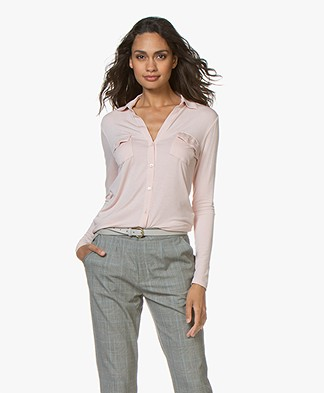 Majestic Filatures Viscose Jersey Blouse - Powder Pink