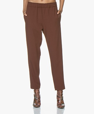 Pomandère Tapered Wool Blend Pantalon - Rusty Brown