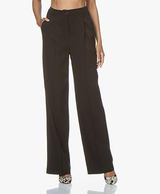 ba&sh Ross Lyocell Blend Wide-leg Pants - Black